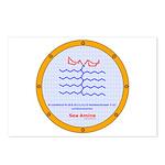 Sea Amine molecule Postcards (Package of 8)