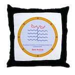 Sea Amine molecule Throw Pillow
