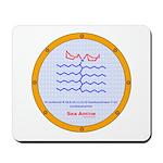 Sea Amine molecule Mousepad