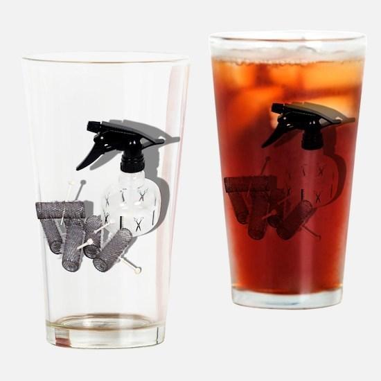 HairRollersWaterSprayer060910shadow Drinking Glass