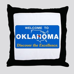 Welcome to Oklahoma - USA Throw Pillow