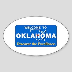 Welcome to Oklahoma - USA Oval Sticker