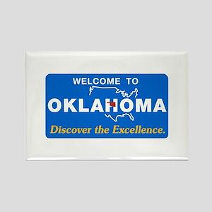 Welcome to Oklahoma - USA Rectangle Magnet
