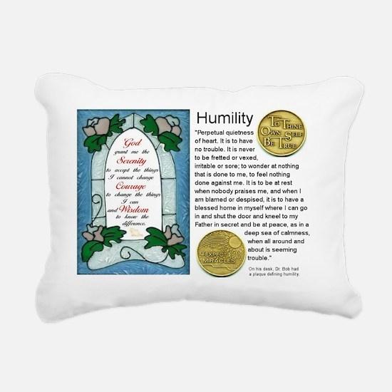 HUMILITY Rectangular Canvas Pillow