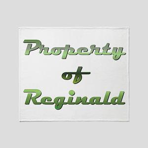 Property Of Reginald Male Throw Blanket