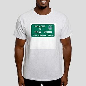 Welcome to New York - USA Ash Grey T-Shirt