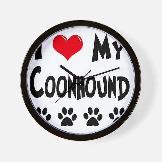 I-Love-My-Coonhound Wall Clock