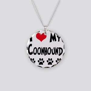 I-Love-My-Coonhound Necklace Circle Charm