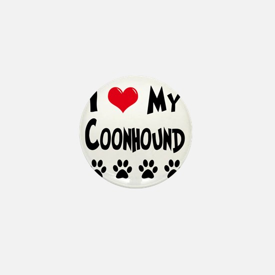 I-Love-My-Coonhound Mini Button