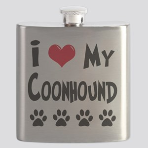 I-Love-My-Coonhound Flask