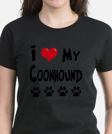 I-Love-My-Coonhound Women's Dark T-Shirt