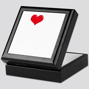 I-Love-My-Coonhound-dark Keepsake Box
