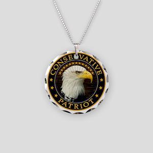 Conservative Patriot 2 Necklace Circle Charm