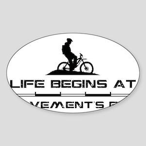 MountainBiker Sticker (Oval)