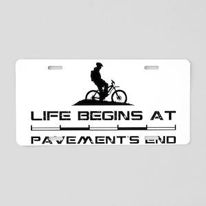 MountainBiker Aluminum License Plate