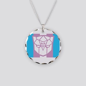 Transgender-transformers-BLK Necklace Circle Charm