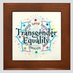 Transgender-Equality-Lotus Framed Tile
