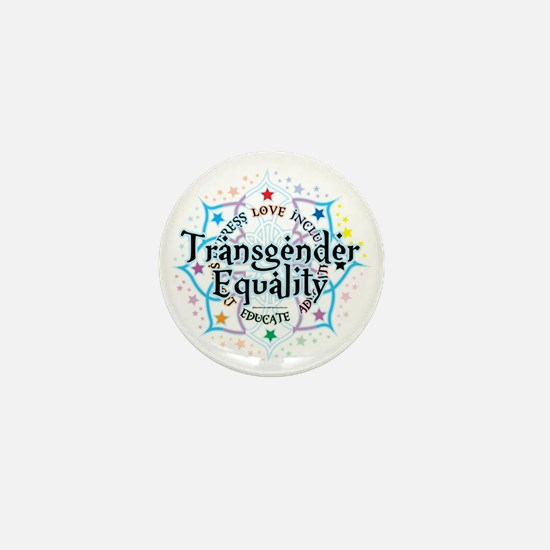 Transgender-Equality-Lotus Mini Button