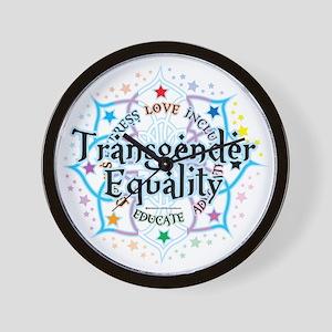 Transgender-Equality-Lotus Wall Clock
