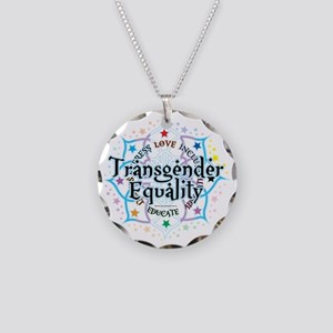 Transgender-Equality-Lotus Necklace Circle Charm