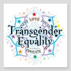 """Transgender-Equality-Lot Square Car Magnet 3"""" x 3"""""""