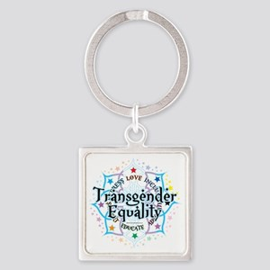 Transgender-Equality-Lotus Square Keychain