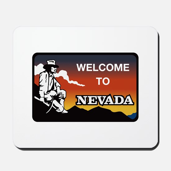 Welcome to Nevada - USA Mousepad