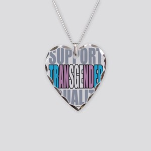 Support-Transgender-Equality Necklace Heart Charm
