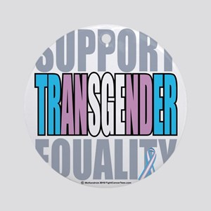 Support-Transgender-Equality Round Ornament