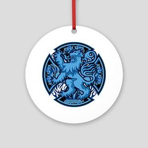 Scottish-Blue-Cross Round Ornament