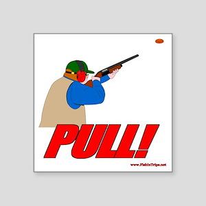 """shotgun sports 4 Square Sticker 3"""" x 3"""""""