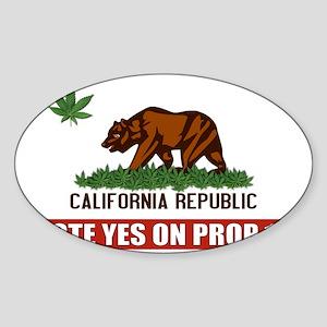 pot_flag_vote Sticker (Oval)