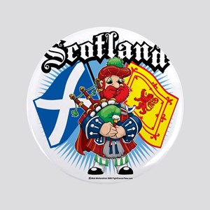 """Scotland-Flags-and-Piper 3.5"""" Button"""