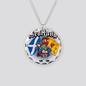 Scotland-Flags-and-Piper Necklace Circle Charm