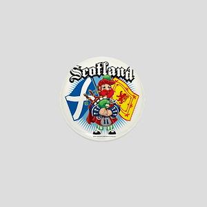 Scotland-Flags-and-Piper Mini Button
