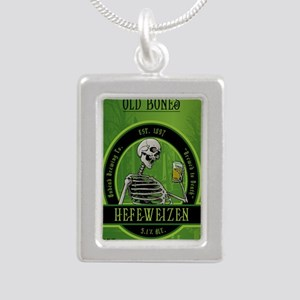 Beer_label_Skeleton Silver Portrait Necklace