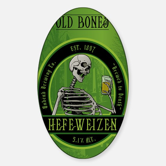 Beer_label_Skeleton Sticker (Oval)