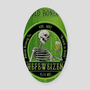 Beer_label_Skeleton Oval Car Magnet