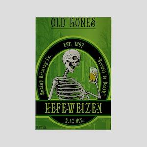 Beer_label_Skeleton Rectangle Magnet