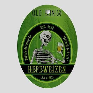 Beer_label_Skeleton Oval Ornament