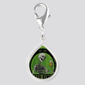 Beer_label_Skeleton Silver Teardrop Charm