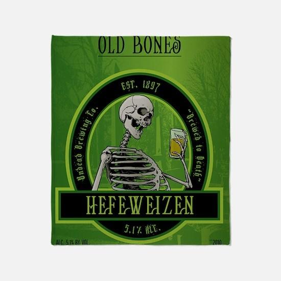 Beer_label_Skeleton Throw Blanket