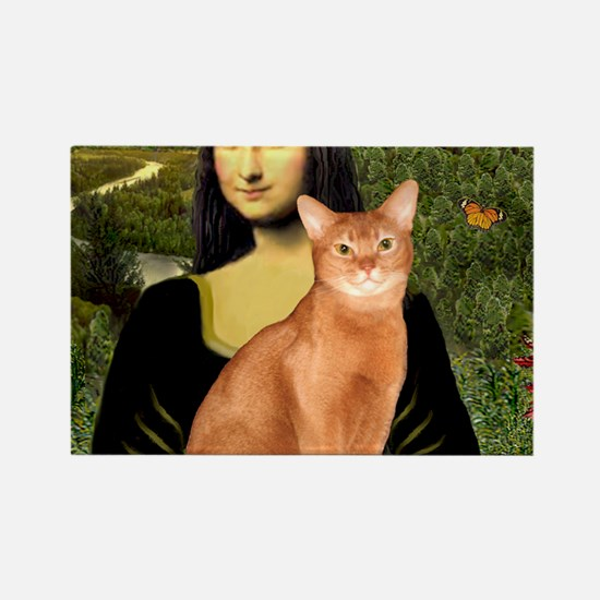 T-Mona Lisa - Abyssinian (red) Rectangle Magnet