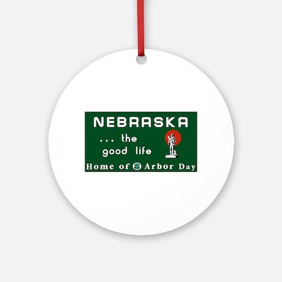 Welcome to Nebraska - USA Ornament (Round)