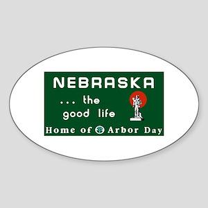 Welcome to Nebraska - USA Oval Sticker
