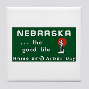 Welcome to Nebraska - USA Tile Coaster