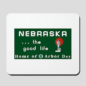 Welcome to Nebraska - USA Mousepad