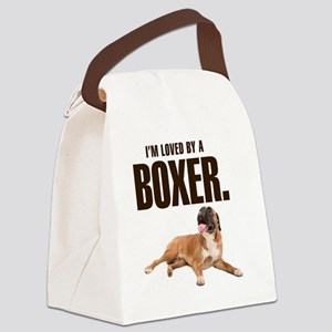 lovedbyaboxer Canvas Lunch Bag