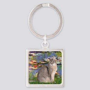 Lilies 2 - Abyssinian (blue 21) Square Keychain