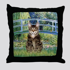 Bridge - Tabby Tiger cat 30 Throw Pillow